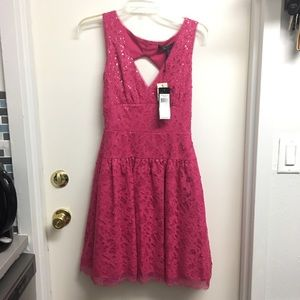 BCBG Pink Sequined Cocktail Dress - Size 4